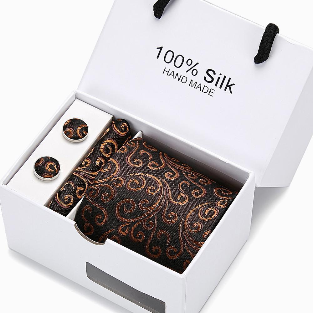 Gift For men New Pink men ties set Extra Long Size 145cm*8cm Solid Plaid Necktie Silk Jacquard Woven Neck Tie set недорого