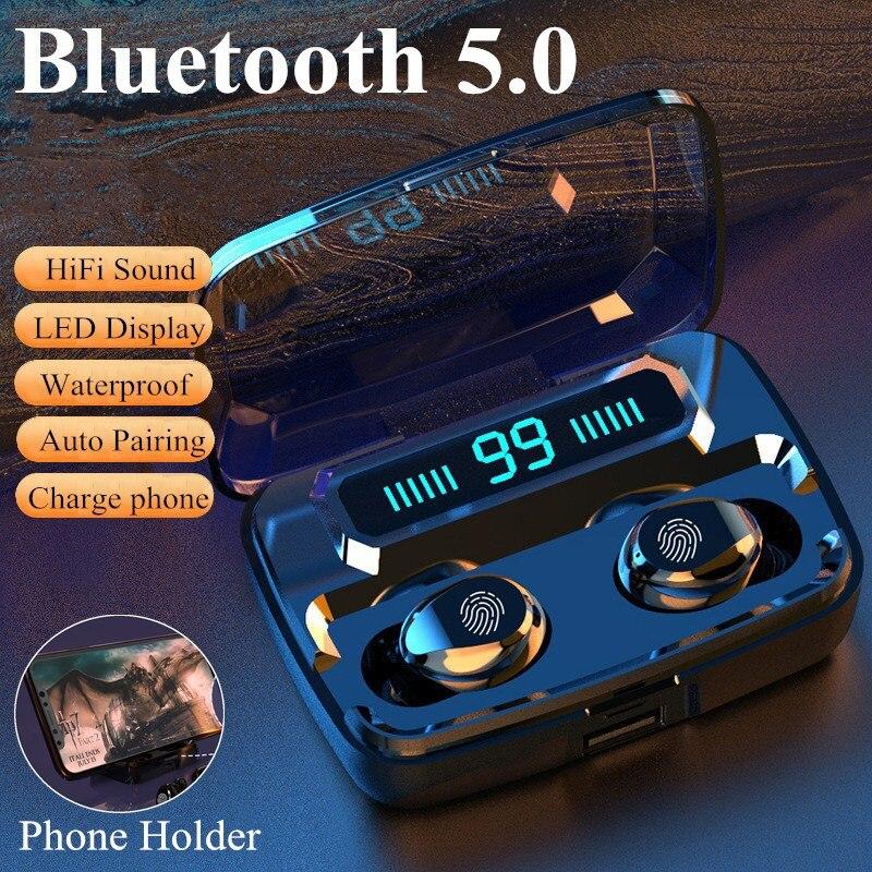 M11-9 Wireless Headphones TWS Bluetooth5.0 earphone HiFi IPX7 Waterproof earbuds Touch Control Headset# G30