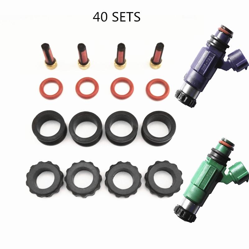 O envio gratuito de 40 conjuntos kit reparação injector combustível kits serviço para mazda premasi 1999 fp 1.8 protege 2.0 injector conjunto (AY-RK022)