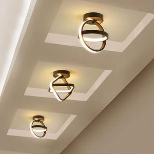 Modern Led Ceiling Lights Nordic Minimalist Ring Lighting Fixture Restaurant Living Bedroom Indoor Decor Luminaire Dining Lamps