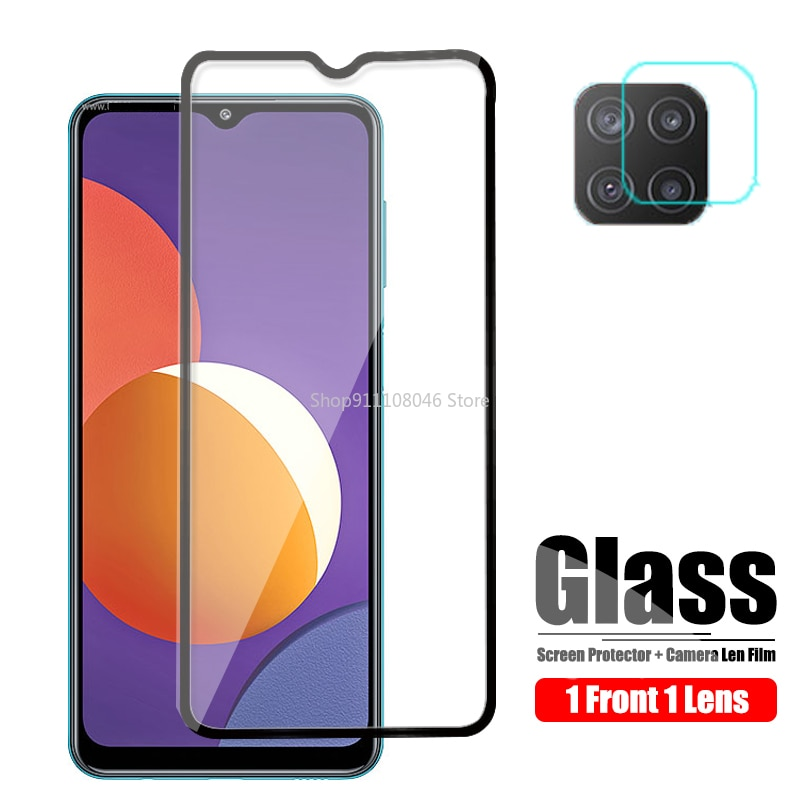 Camera Screen Protector On For Samsung Galaxy M12 Tempered Glass For Samsung M12 2021 Protective Gla
