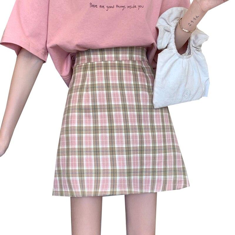 Фото - Женская клетчатая мини-юбка, летняя повседневная короткая юбка на молнии, приталенная мини-юбка для девочек flavio castellani мини юбка