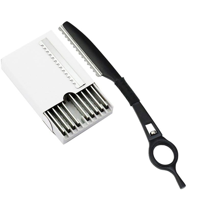 univinlions rotary thinning razor blade straight salon hairdresser razor hair cutter swivel barber hair cutting knife thinner