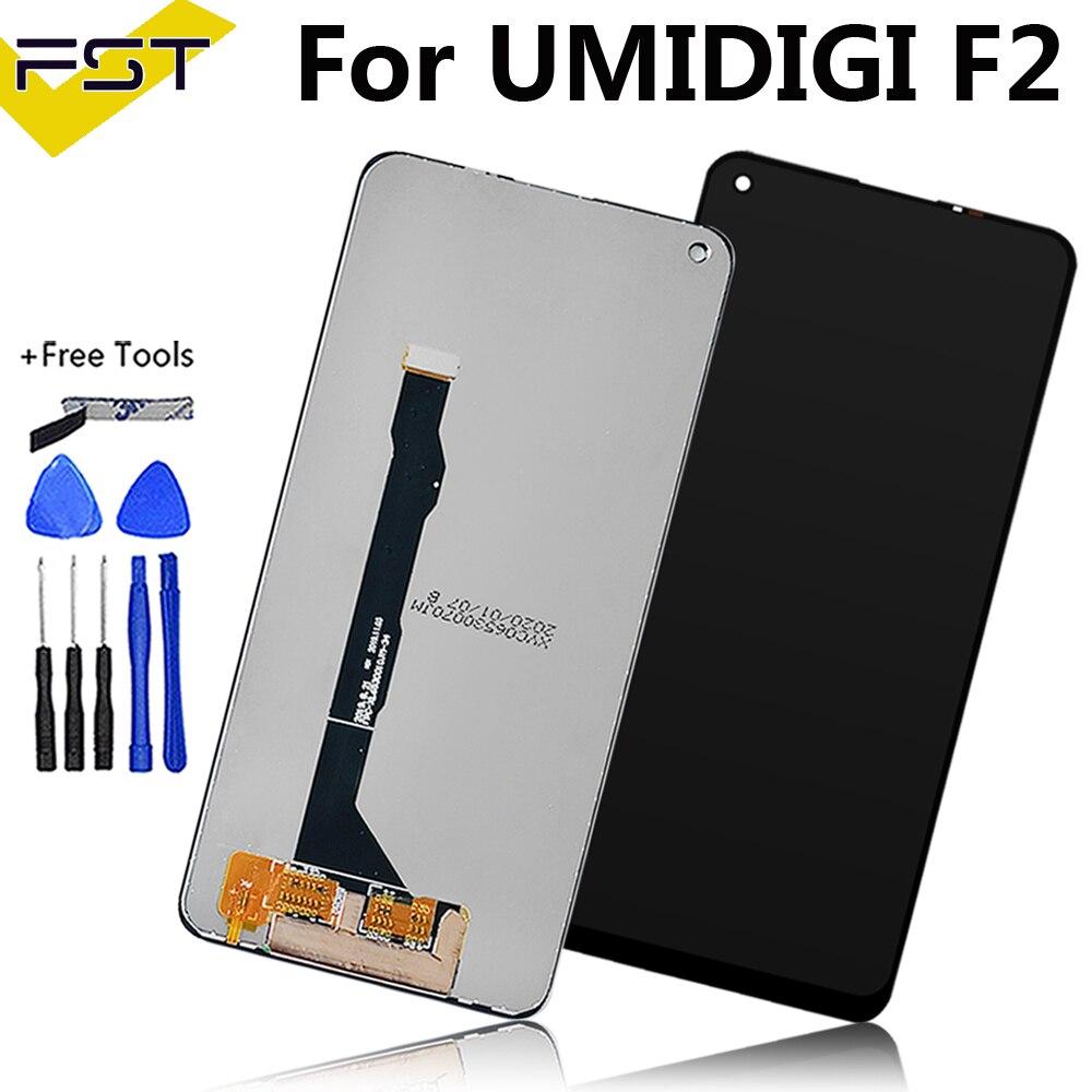 6.53 ''أسود ل UMI UMIDIGI F2 شاشة الكريستال السائل و مجموعة المحولات الرقمية لشاشة تعمل بلمس إصلاح أجزاء أدوات ل UMI F2