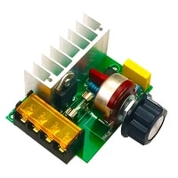 4000w ac 220v scr electric voltage regulator motor speed controller dimmers dimming speed with fuse