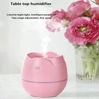 ELOOLE Rose Mini Humidificateur USB Portatif de Purificateur Dair De Voiture Huile Essentielle Aromatherapie LED Nuit Lampe Chambre Humidificateur