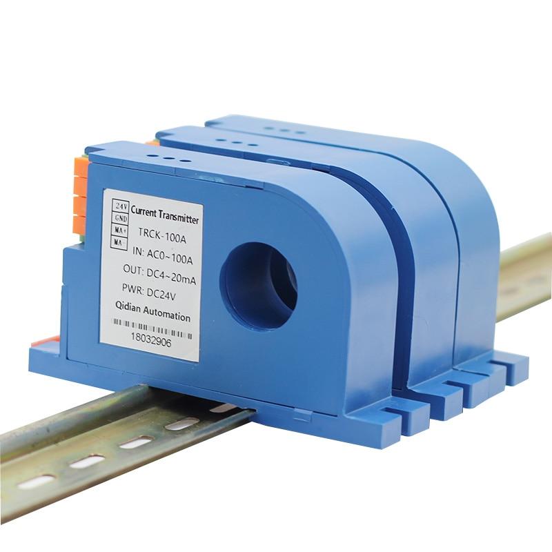 جهاز إرسال مستشعر التيار ، محول التيار ، DC10A 20A 50A 600A ، 0-10V 0-20mA 4-20mA ، محول قياس التيار ، محول الطاقة DC24V