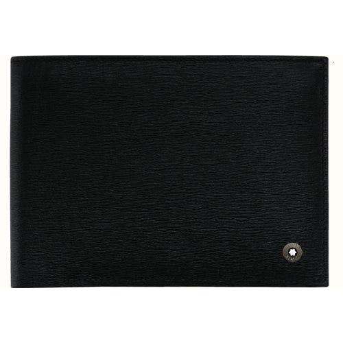 MONT BLANC Westside 4cc with ID Holder Mens's Black Wallet 9680