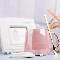 ceramic mugs coffee cups gold inlay coffe mug with handle tea cup milk mug creative heat insulation home office espresso cups