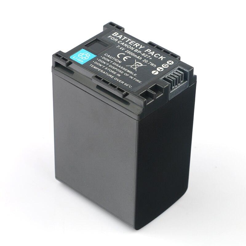 LANFULANG BP-827 BP827 Camera Battery for Canon HF10 HF100 HF11 HF20 HF200 HG20 HG21 XA10 HF G10 M31 M36 M300 M306