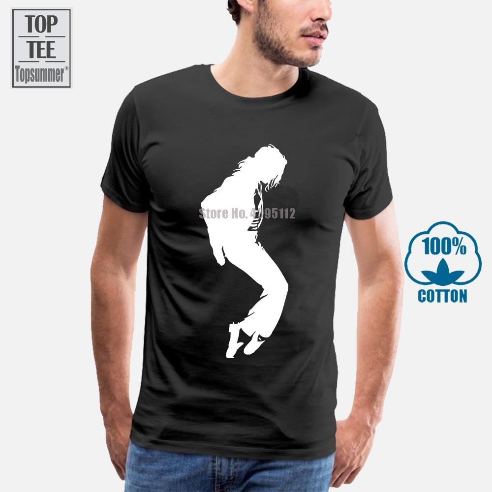 Camiseta del rey del Pop Michael Jackson, camiseta para hombre de marca de moda de manga corta Mj, camiseta blanca y negra, camisetas de Hip Hop Rock para hombre, 2017