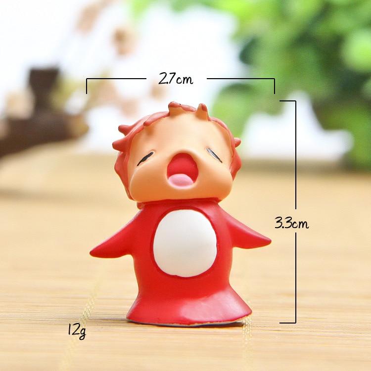 Kawaii anime ponyo no penhasco figuras de ação dos desenhos animados ponoyo modelo brinquedos colecionáveis modelo brinquedos crianças presentes
