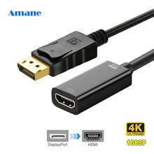 1080P 4K DP To HDMI Adapter DisplayPort To HDMI Display Port Male To Female Converter Cable Adapter