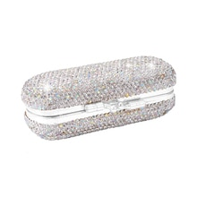 Car Storage Box Ladies Lipstick Case With Mirror Shiny Diamonds Luxurious Vintage Clip On Lipstick H