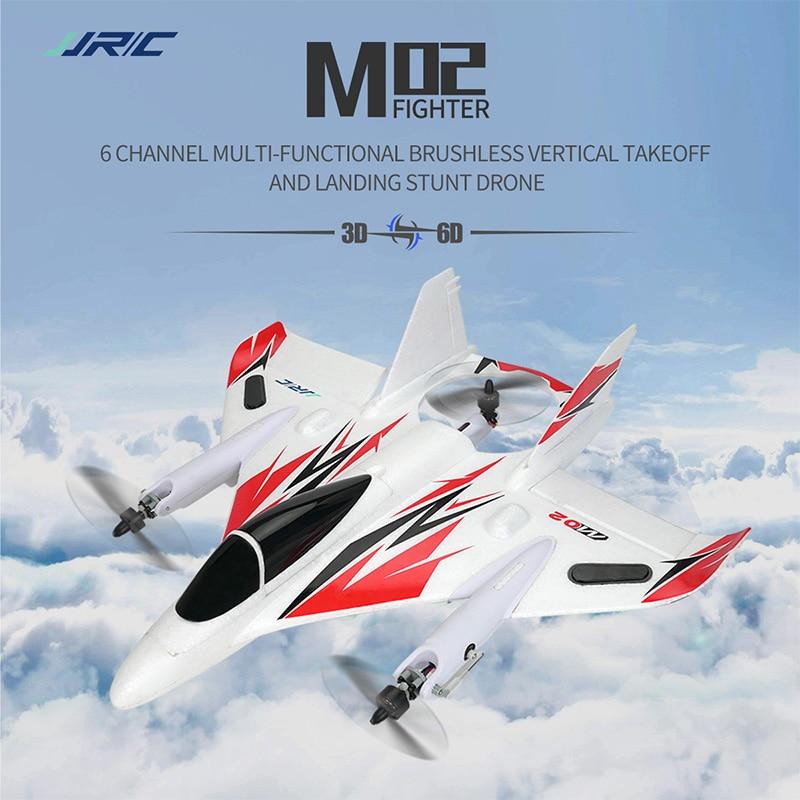Jjrc m02 rc espuma planador epo sem escova 6-axis giroscópio aerobatic rc avião rtf 3d/6g modo aeronaves brinquedos 11.1 v 1000 mah bateria