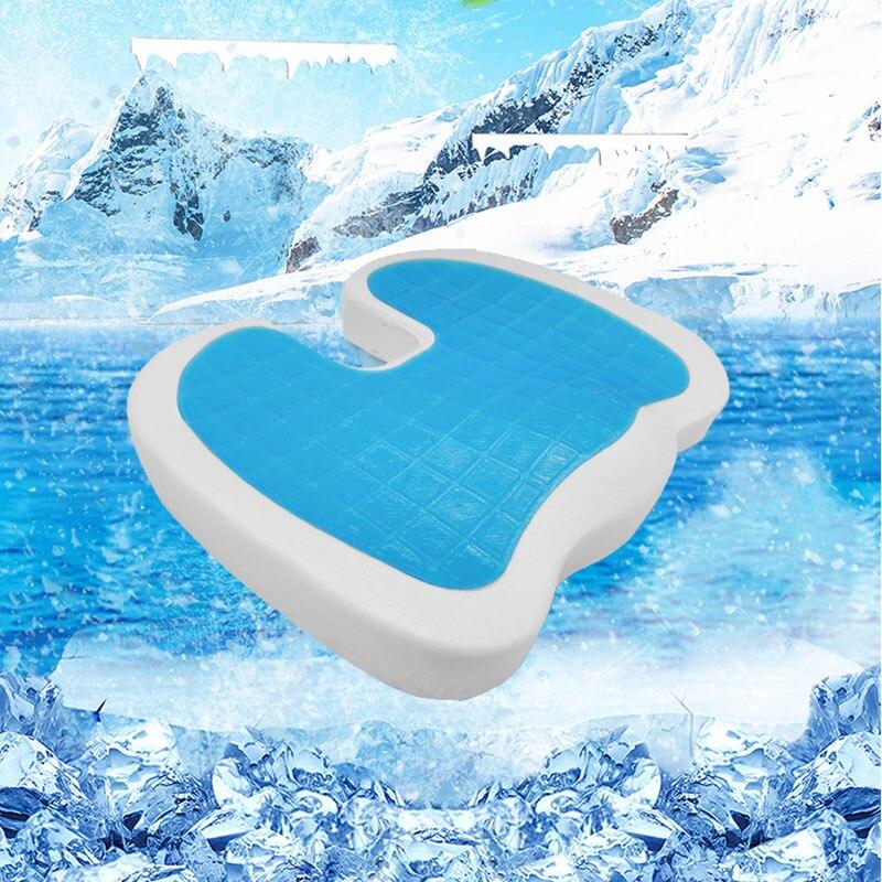 Silicone gel orthopedic memory cushion foam Pillow low Rebound foam seat cushion Summer Cool Chair/driver seat Cushion