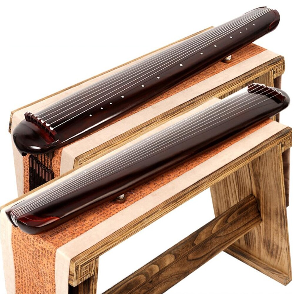 Chinese Fuxi HunDun Guqin 7 strings old Paulownia Ancient Zither For Beginner Practice Guqin 100% Handmade musical Instruments enlarge