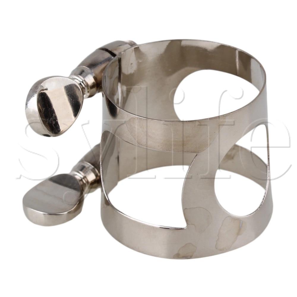 Nickel Plated Clarinet Double Screws Adjust Mouthpiece Ligature