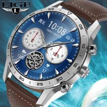 LIGE 454*454 HD Screen Smart Watch Men Dial Answer Call Wireless Charger Rotary Button IP68 Waterpro