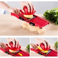 multi function vegetable cutter kitchen chopping vegetable cutter shredder slicer grater 10 piece set
