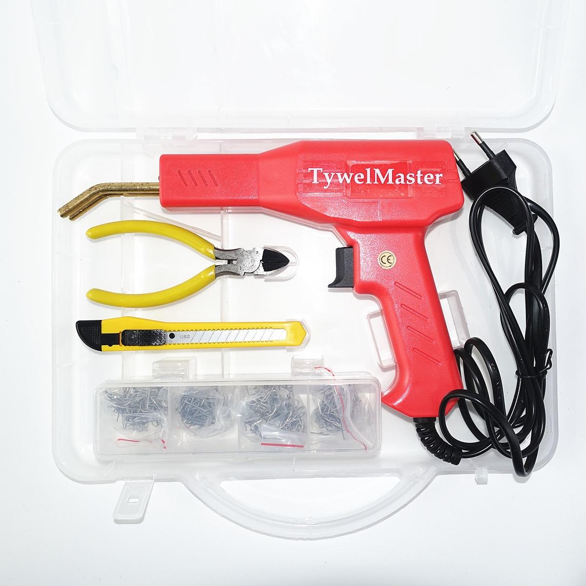 Práctico soldador de plástico herramientas de garaje máquina de grapadoras en caliente máquina de reparación de plástico de PVC de grapas, reparación de parachoques de automóviles, grapadora en caliente