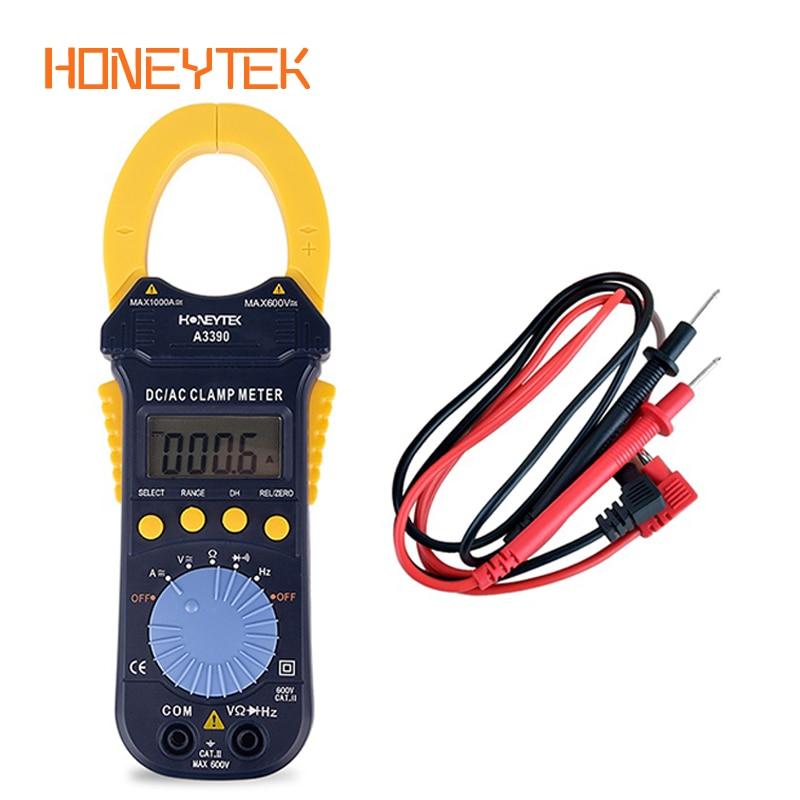 HONEYTEK Digital Multimeter Clamp Meter Tester For Measuring Current And Voltage True RMS Multimeter Ohmmeter Frequency Avometer