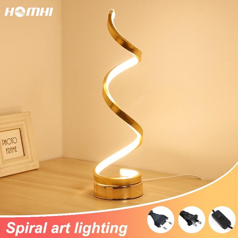 Lámpara Led de mesa para sala de estar, decoración artística, mesita de...