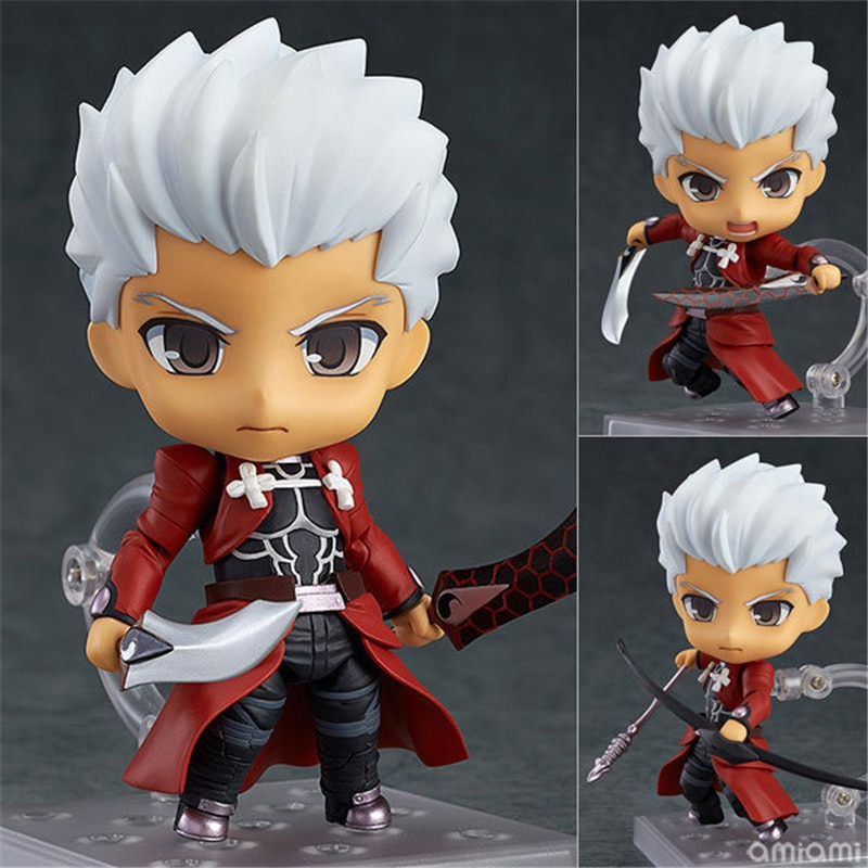 10cm anime fate stay night saber figurine pvc action figure replaceable accessorie model toy birthday gift movie collection New 10cm Anime Fate Stay Night Archer Emiya Shirou PVC Action Figure Collectible Model Kids Toys Doll with Box