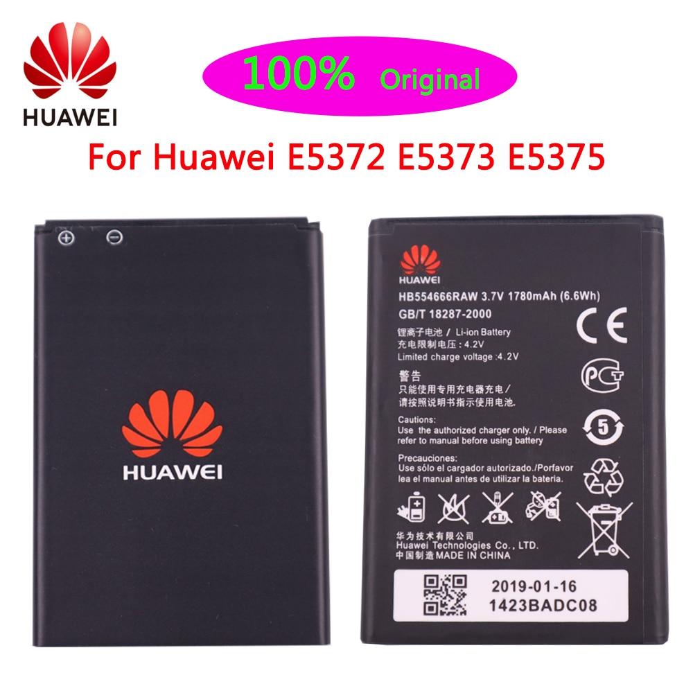 1780mAh  Original Battery HB554666RAW For Huawei 4G Lte WIFI Router E5372 E5373 E5375 EC5377 E5330 Replacement Phone battery original huawei hb5f2h rechargeable li ion phone battery for huawei e5336 e5375 ec5377 e5373 e5330 4g lte wifi router