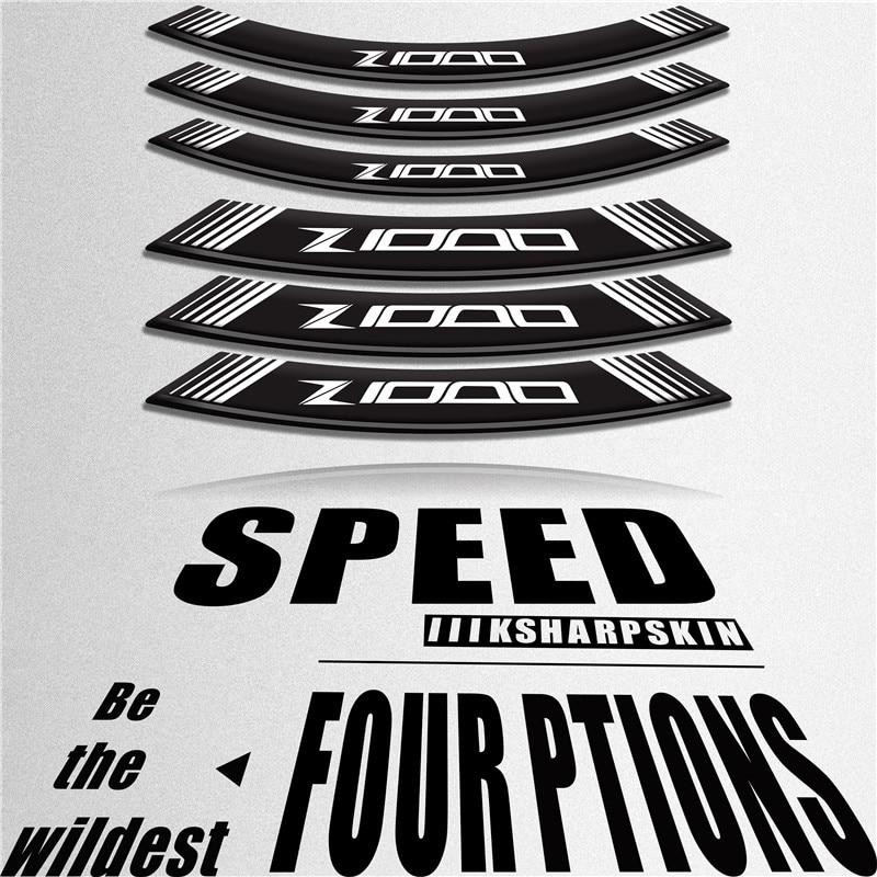 Креативная трансформация наклейка для мотоцикла Аксессуары для колеса шины Светоотражающая декоративная наклейка для KAWASAKI z1000