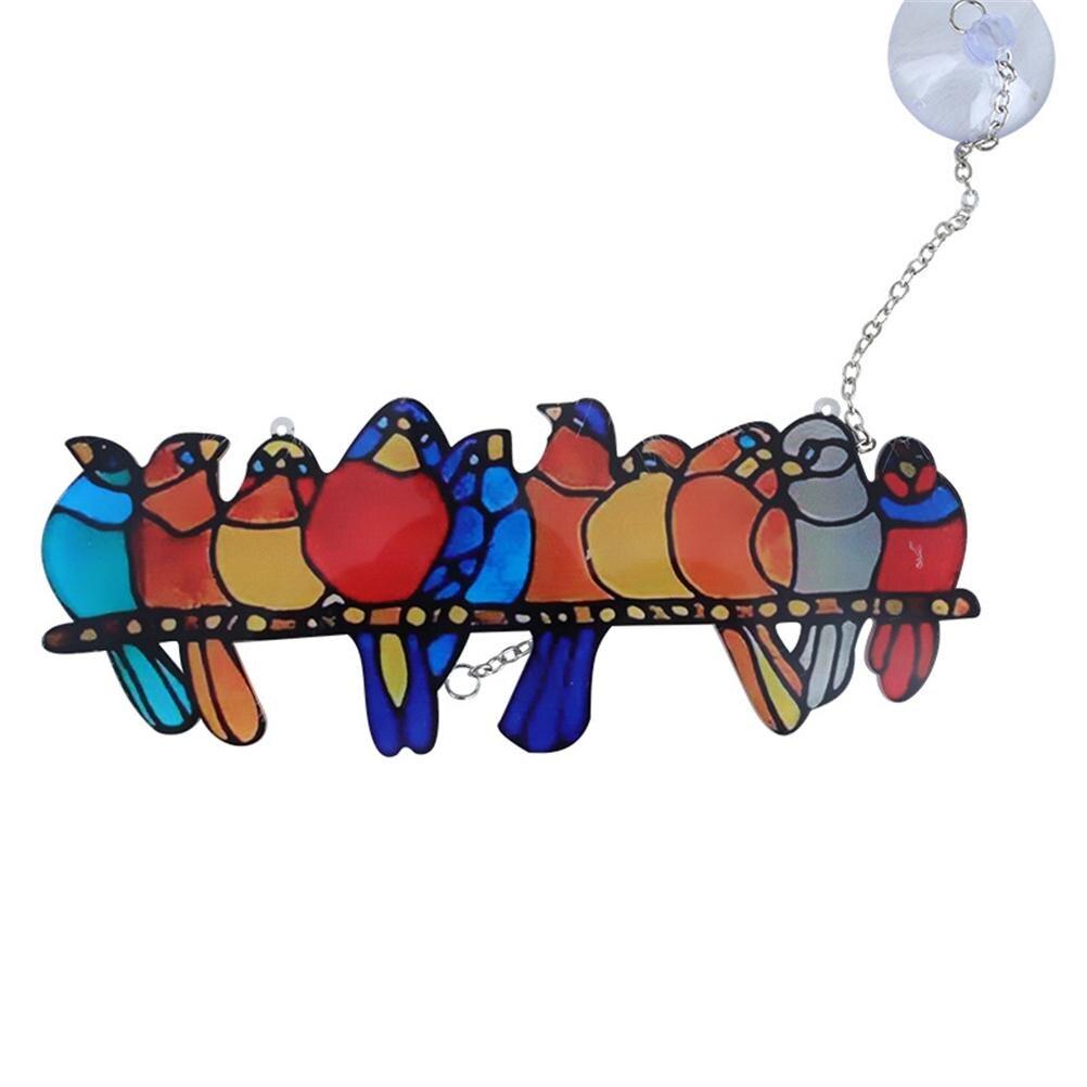 Роспись птицы цветное Стекло орнамент домашний декор для окна витражи Стекло окна портьеры это хороший аксессуар