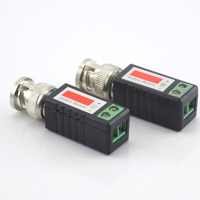 10 Pairs CCTV Video Balun Twisted Passive Transceiver BNC Male COAX CAT5 Camera UTP Cable Coaxial Adapter For Analog Camera enlarge