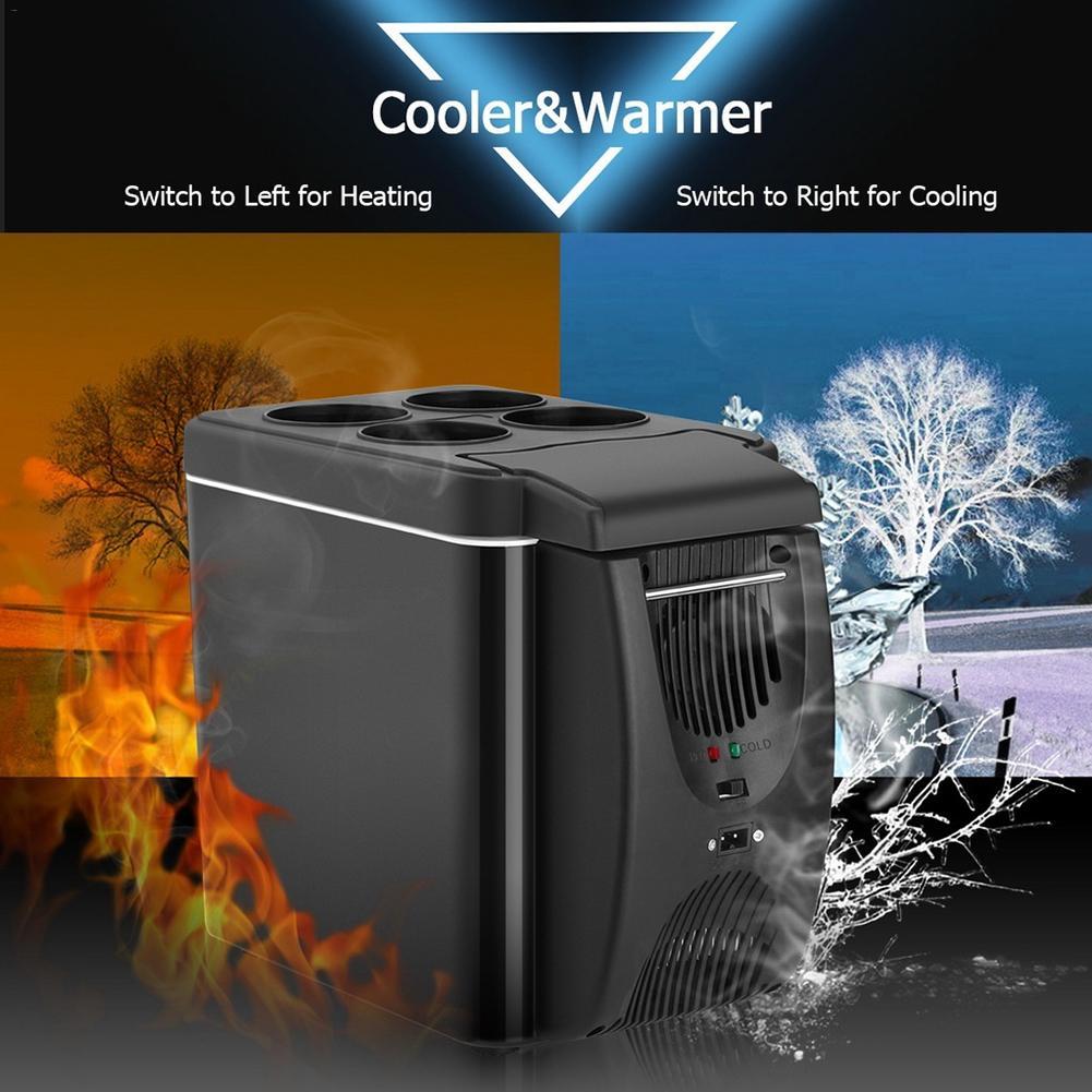 12V Refrigerator Freezer Heater Portable Icebox Car Refrigerator 6L Mini Car Freezer Cooler&Warmer Electric Fridge Travel Fridge
