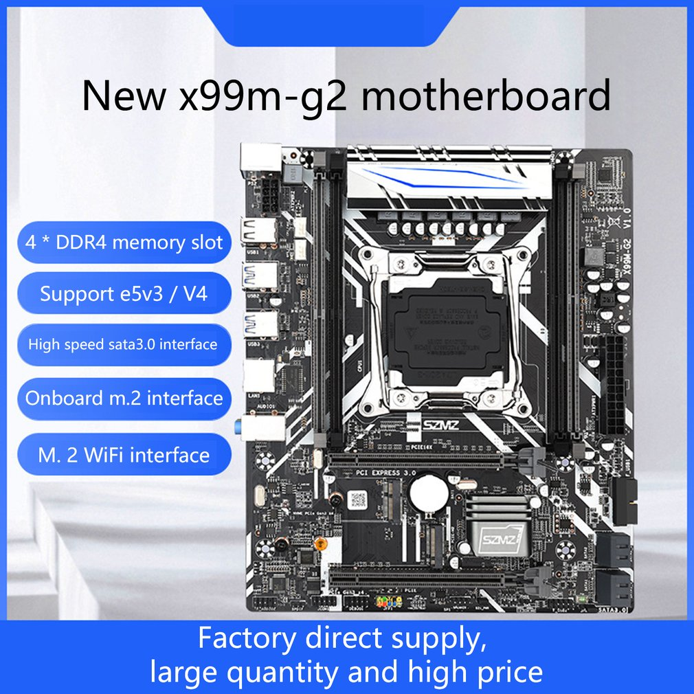 X99 اللوحة المزدوجة قنوات مع NVME SSD M.2 WIFI-M2 USB 3.0 دعم E5 2678V3 E5 2620V3 E5 2650V3