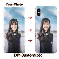 Fai da te Nome Privato Foto Su Misura Del Silicone o Caso duro Per Sony Xperia XZ M5 C3 C4 C5 Dual Z5 Premium personalizza Telefono Borsette