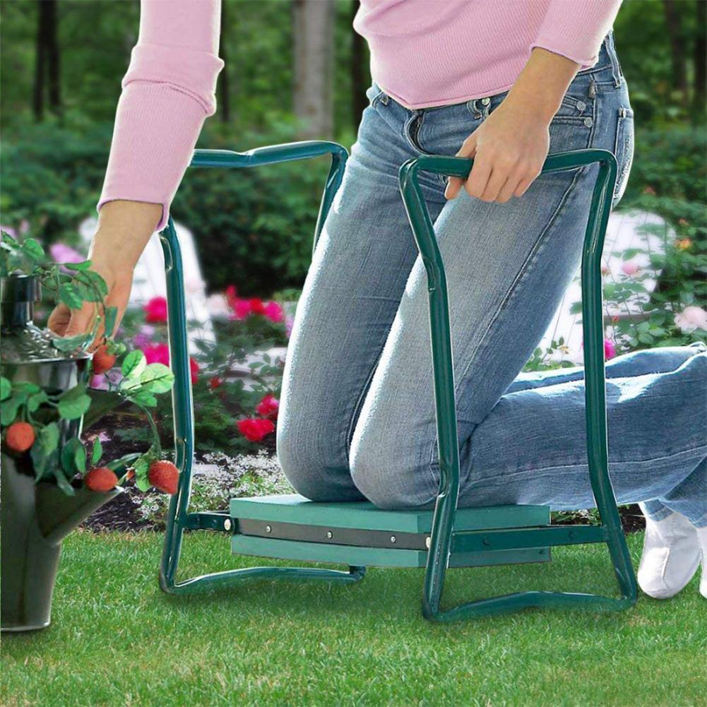 Protector de rodilla plegable portátil multifuncional, Protector de rodilla, asiento de jardín y almohadilla para arrodillarse, taburete plegable, banco, herramienta gomaespuma