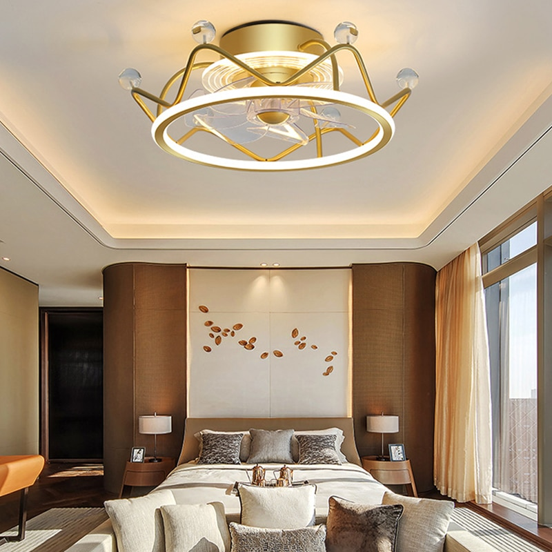 AliExpress - Nordic Modern Bedroom Decor Led Lights for Room Ceiling Fan Lamp Ceiling Fans with Lights Remote Control