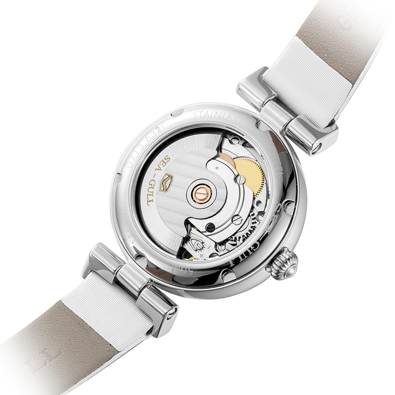 2021 seagull ladies automatic mechanical watch classic casual calendar mother-of-pearl dial sapphire crystal mechanical watch enlarge