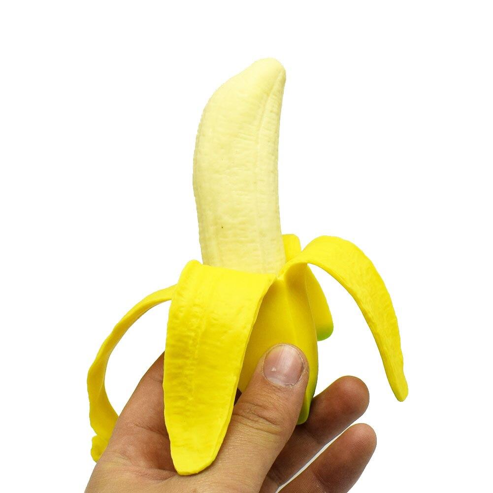 1 Pza nuevo realista pelado Banana exprimidor juguetes niños adultos broma pesada simulación Banana suave divertido juguete regalo para niños