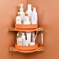 bathroom organizer shelf wall mounted triangular corner storage rack cosmetic toiletries storage tray bathroom accessories