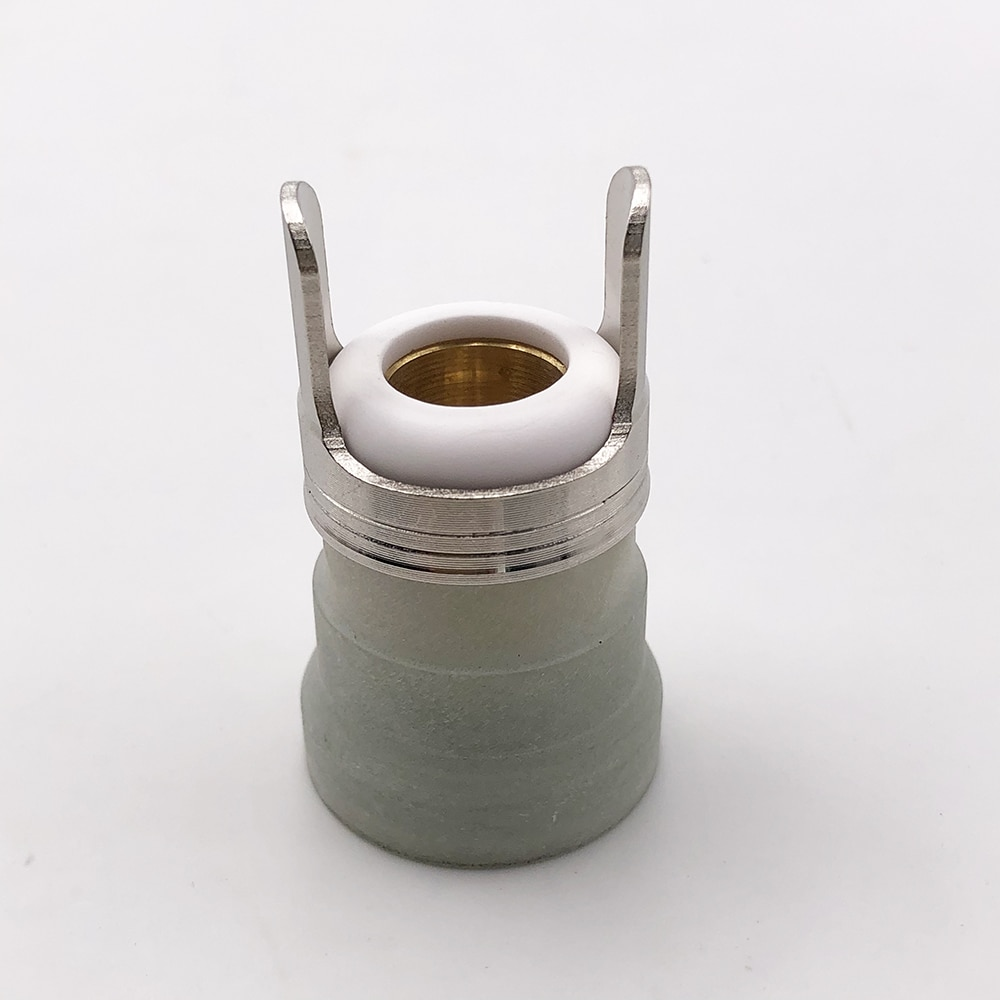 PT60 PT-60 Plasma cutting torch consumables shield cup with ceramic nozzle and isolation spring each 2pcs