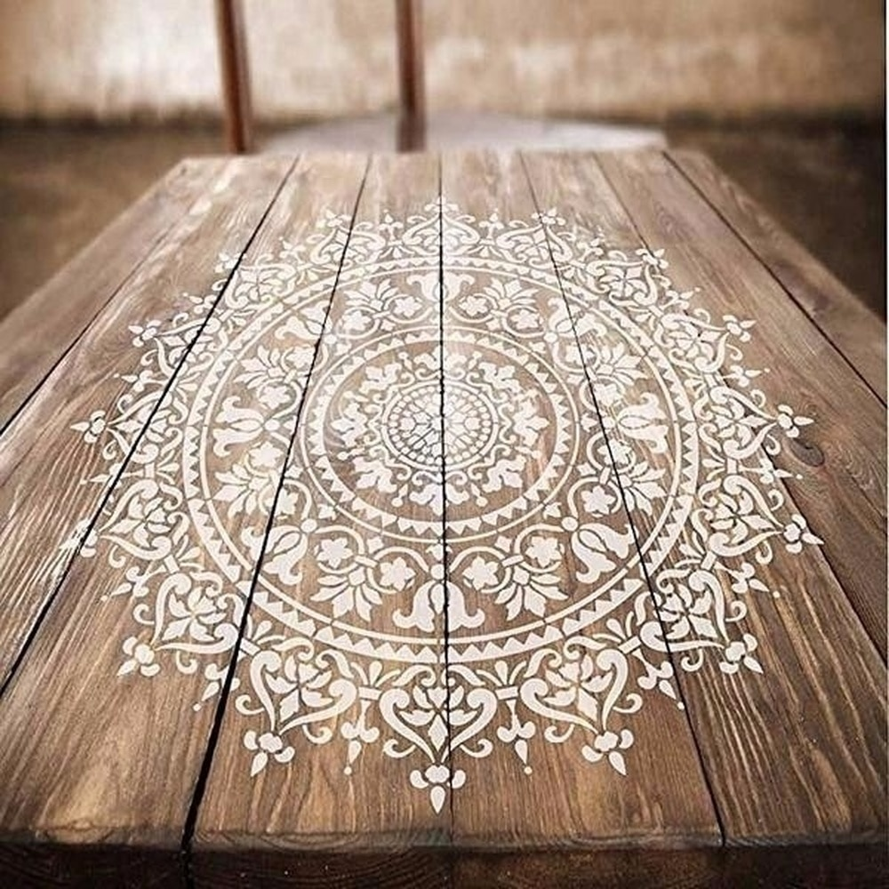 30*30cm Size DIY Craft Mandala Stencils for Painting on Wood,Fabric,Walls Art Scrapbooking Stamping Album Embossing Paper Cards