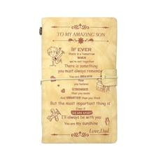 Leer Reiziger Notebook Planners A6 Creatieve Diy Custom Cover Travel Journal Schrijfmap Opname Daily Memo Notebooks Geschenken