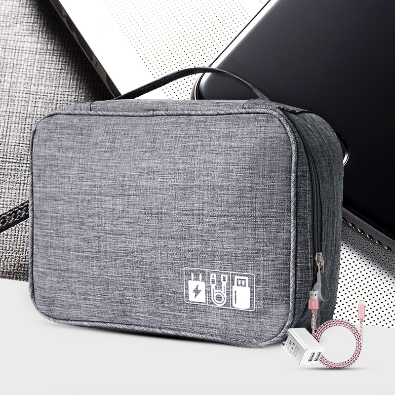 Cable Storage Bag Charger Wire Electronic Organizer Digital Gadget Pouch Cosmetic Kit Case Closet Wa