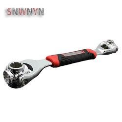 8 em 1 chave de soquete universal 360 graus rotatin torque chave multitools chaves conjunto spline parafuso torx reparação do carro ferramentas manuais