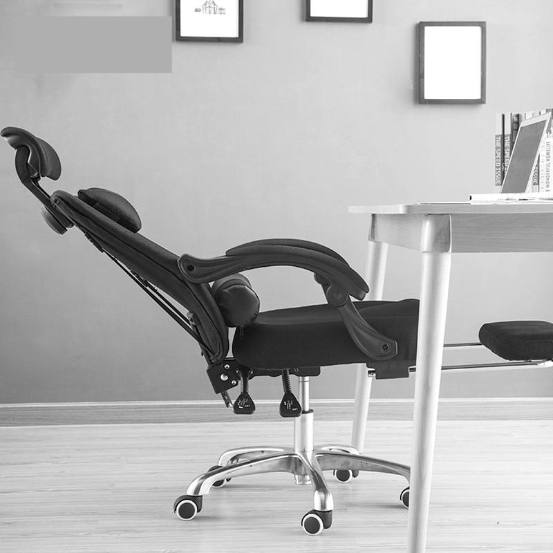 Cadeira reclinável de escritório, de malha, pessoal, computador, elevação, giratória, lazer, jogos, assento