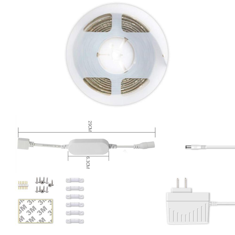 Tira de luz LED inteligente WiFi-Kit de iluminación de tira LED que cambia de Color iLintek RGB + Luz de humor blanca sintonizable IP44 compatible a prueba de agua