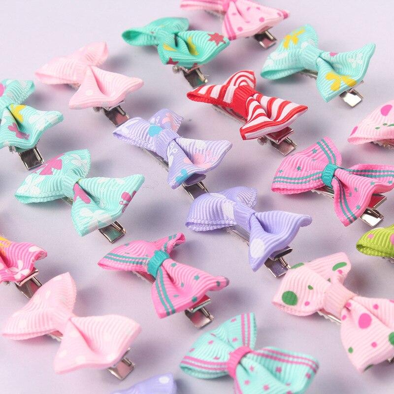 10 stücke Nette Cartoon Candy Farbe Band Bogen Haar Clips Haar Pin Regenbogen Haar Clip Mädchen Kinder Entenschnabel Haarnadeln Haar styling Werkzeug