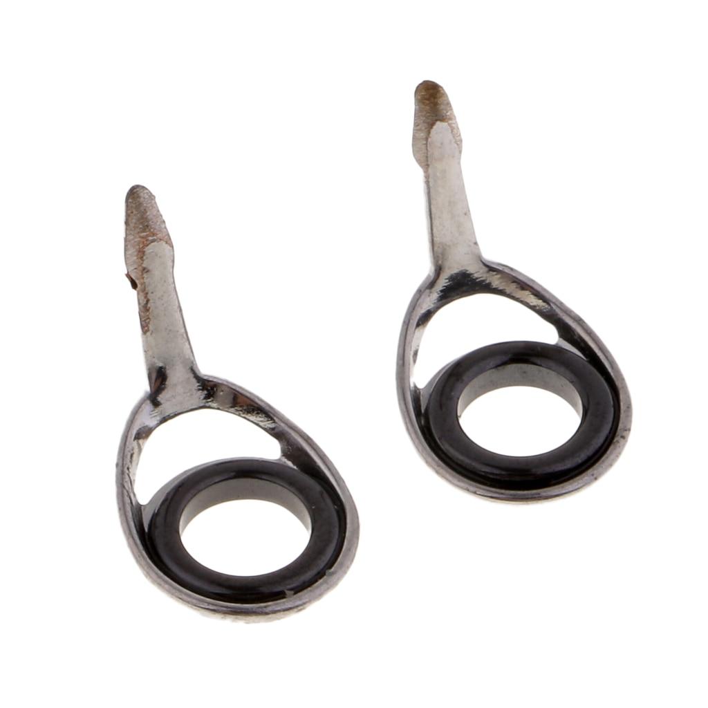 10 Uds guías de caña de pescar anillo SIC guías de caña de pescar 4/6mm varillas de reparación piezas