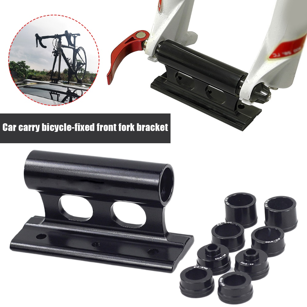 MTB Bike Fork Mount Quick Release Fork Mount Truck Bed Bicycle Carrier Fixed Clip Luggage Rack for Bike Truck Thru Axle Carrier